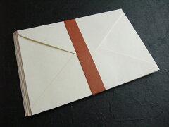 検: 和紙  横型  ◆越前 角封筒大 白 12×17.5cm(洋形1号)郵便番号枠なし 5枚入