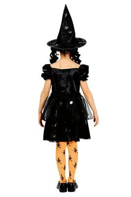 メルヘンウィッチ(黒)(子供用:140cm)【魔女の衣装】[ハロウィン衣装、ハロウィーン、コスチューム、仮装、子供、女の子]【431022】