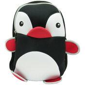 NOHOOノーフー子供用リュックMLサイズペンギンブラックウェットスーツ素材キッズかわいい可愛いプレゼントギフト【あす楽対応】