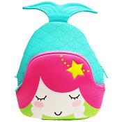 NOHOOノーフー子供用リュックSMサイズ人魚姫ブルーウェットスーツ素材キッズかわいい可愛いプレゼントギフト【あす楽対応】
