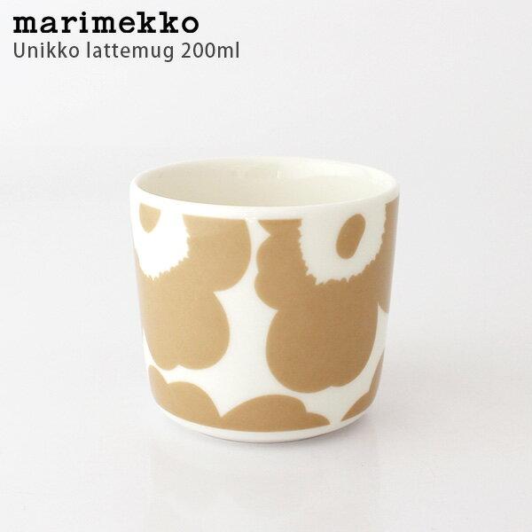 marimekko ( マリメッコ ) ラテマグ 【 単品 】 Unikko ( ウニッコ ) コーヒーカップ 200ml / ホワイト×ベージュ 【 正規販売店 】