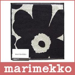 marimekko ( マリメッコ ) UNIKKO MINIPYYHE / MINI TOWEL ミニタオル / ブラック・サンド 【RCP】.