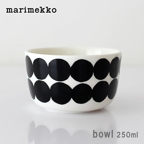 marimekko マリメッコ ボウル 250ml Rasymatto ( ラシィマット ) BOWL ドット柄 / ブラック × ホワイト SIIRTOLAPUUTARHA(シイルトラプータルハ) 【 正規販売店 】.