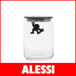 【正規販売店】ALESSI ( アレッシィ )  GIANNI ジャンニ キッチンボックス Mサイズ / ブラック.