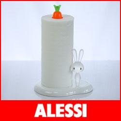 【 送料無料 】【 正規販売店 】ALESSI ( アレッシィ ) Bunny & Carrot バニー アンド キャロット  キッチンペーパーホルダー / ホワイト.