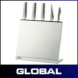 GLOBAL ( グローバル ) 専用ナイフスタンド 4〜6本用 GKS-01/F (※包丁は含まれておりません)  .