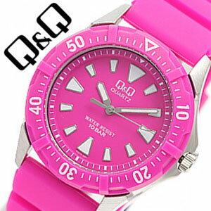 シチズンキューアンドキュー腕時計 [CITIZENQ&Q時計](CITIZEN Q&Q 腕時計 シチズン キューアンドキュー 時計) 時計 ピンク 水に強い10気圧防水 [ カラフル ギフト バーゲン プレゼント ご褒美][おしゃれ 腕時計]