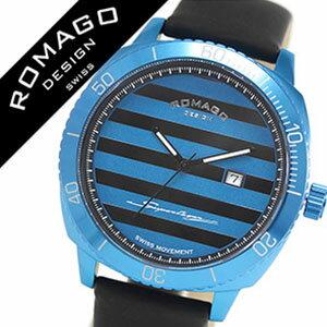 ロマゴ腕時計ROMAGODESIGN時計ロマゴデザイン腕時計ROMAGODESIGNロマゴデザインROMAGO腕時計ロマゴ時計ROMAGO腕時計SuperleggeraRM049series腕時計スーパーレジェーラシリーズメンズ/ブルー×ブラックストライプRM049-0371ST-BU[おしゃれ][mbw][10倍]