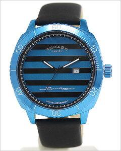 ロマゴデザインスーパーレジェーラシリーズ腕時計ROMAGODESIGNSuperleggeraRM049series時計ROMAGODESIGNSuperleggeraRM049series腕時計ロマゴデザインスーパーレジェーラシリーズ時計メンズ/ブルー×ブラックストライプRM049-0371ST-BU[おしゃれクール]