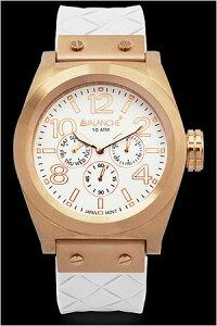 アヴァランチ腕時計AVALANCHE時計AVALANCHE腕時計アヴァランチ時計ロイヤルRoyalメンズレディースユニセックス/男女兼用/ホワイトAV-1027-WHRG[送料無料アナログおしゃれカジュアルかわいいローズゴールド]