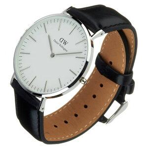 ダニエルウェリントン腕時計DanielWellington時計DanielWellington腕時計ダニエルウェリントン時計クラシックシェフィールドシルバーCLASSIC40mmメンズ/レディース/ユニセックス/ホワイト0206DW