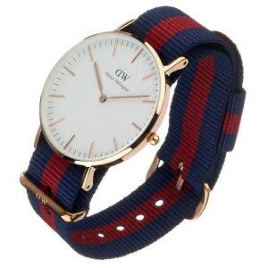 ダニエルウェリントン腕時計DanielWellington時計DanielWellington腕時計ダニエルウェリントン時計クラシックオックスフォードローズCLASSIC36mmメンズ/レディース/ユニセックス/オフホワイト0501DW