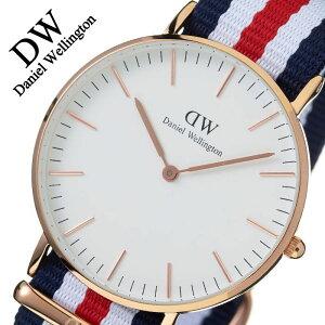[ポイント10倍][正規品2年保証]ダニエルウェリントン腕時計DanielWellington時計ダニエルウェリントン腕時計danielwellington腕時計ダニエル腕時計クラシックカンタベリーローズCLASSIC36mmメンズ/レディース/ホワイト0502DW[革ベルトレザー][送料無料]