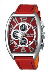 エンジェルクローバー腕時計AngelClover時計AngelClover腕時計エンジェルクローバー時計ダブルプレイDoublePlayメンズ/レッドシルバーDP38SRE-RE[おしゃれクロノグラフ]