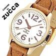 【5年保証対象】カバンドズッカ腕時計 CABANEdeZUCCA時計 CABANE de ZUCCA 腕時計 カバン ド ズッカ 時計 ミニ ミリタリー MINI MILITARY レディース/シャンパンゴールド ダークブラウン AJGK038 [アナログ おしゃれ かわいい 3針 ゴールド ベージュ][送料無料]