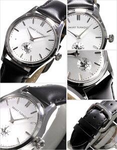 【送料無料】スマートターンアウト腕時計SMARTTURNOUT時計SMARTTURNOUT腕時計スマートターンアウト時計メンズ/ホワイトシルバーST-001-BK2[リバイバルモデルクラシックおしゃれブラック][ブランド雑誌掲載人気新作通販]