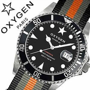 オキシゲン腕時計OXYGEN時計OXYGEN腕時計オキシゲン時計ダイバーアムステルダムDiverAmsterdam40メンズ/ブラックホワイトAMS-40-BLGROR[アナログおしゃれシルバーグレーオレンジダイバーデザインモデル3針][送料無料][mpw]