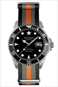 オキシゲン腕時計OXYGEN時計OXYGEN腕時計オキシゲン時計ダイバーアムステルダムDiverAmsterdam40メンズ/ブラックホワイトAMS-40-BLGROR[アナログおしゃれシルバーグレーオレンジダイバーデザインモデル3針][送料無料]