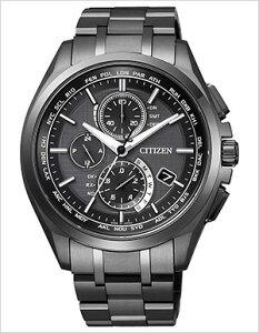 シチズン腕時計CITIZEN時計CITIZEN腕時計シチズン時計アテッサエコドライブワールドタイムATTESAECODRIVEメンズ/ブラックAT8044-56E[アナログおしゃれクロノグラフ電波時計黒銀6針][送料無料]