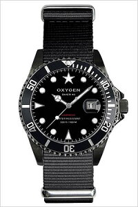 オキシゲン腕時計OXYGEN時計OXYGEN腕時計オキシゲン時計ダイバーモビーディックブラックDiverMobyDickBlack40メンズ/ブラックホワイトMBB-40-BL[アナログおしゃれ白黒ダイバーデザインモデル3針][送料無料]
