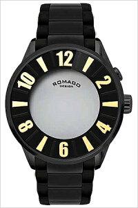 ロマゴデザイン腕時計ROMAGODESIGN時計ROMAGODESIGN腕時計ロマゴデザイン時計ヌメレーションシリーズNumerationseriesメンズ/ゴールドRM007-0053SS-GD[アナログおしゃれマジックミラーライトロゴ文字数字ブラック黒金3針][送料無料]