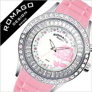 ロマゴ腕時計ROMAGODESIGN時計ロマゴデザイン腕時計ROMAGODESIGNロマゴデザインROMAGO腕時計ロマゴ時計ブロッサムシリーズBlossomメンズレディースホワイトピンクRM014-0171PL-PK[Pinkシルバー花][かわいい生活防水ブランド][送料無料][lpw][10倍]