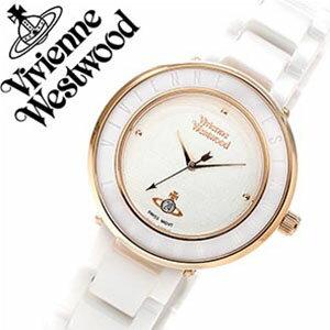 ヴィヴィアン時計VivienneWestwood時計ヴィヴィアンウエストウッド腕時計VivienneWestwood腕時計ヴィヴィアンウエストウッド時計ビビアンウエストウッド/ビビアン/ヴィヴィアン/Vivienne/オーブ/セラミック/レディース/VV124WHWH[ゴールド/白][送料無料]