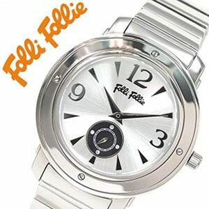 [当日出荷] フォリフォリ腕時計 FolliFollie腕時計 フォリフォリ 時計 FolliFollie 時計 フォリフォリ 腕時計 Folli Follie フォリ フォリ 腕時計 フォリフォリ時計 メンズ レディース シルバー WF8T046BSSXX ジュエリー ストーン 防水 ダイヤ クリスタル 銀 3針 送料無料
