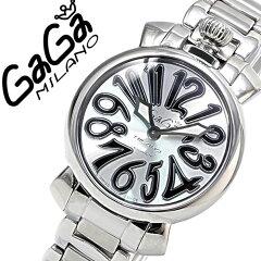 ガガミラノ [ GaGaMILANO ] ガガミラノ 時計 [ GaGaMILANO 時計 ] ガガ ミラノ [ GaGa MILANO ] ガガミラノ腕時計 [ GaGaMILANO腕時計 ] マヌアーレ/メンズ/レディース/35mm MANUALE シルバー/ホワイト/ブラック GG-60202 [ブレスレット/6020.2/メタルベルト][送料無料]