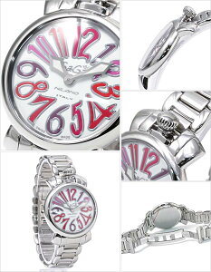 ガガミラノガガミラノ腕時計GaGaMILANO時計GaGaMILANO腕時計ガガミラノ時計マヌアーレ35mmMANUALEレディース/シルバー/ホワイト/ピンク/レッドGG-60204[かわいいgagamilanoブレスレット6020.4ACCIAIOメタルベルト2014おしゃれブランド][送料無料]