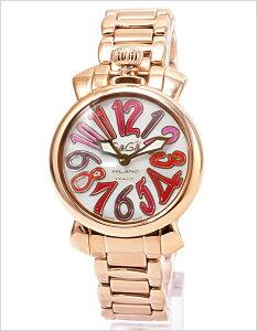 ガガミラノガガミラノ腕時計GaGaMILANO時計GaGaMILANO腕時計ガガミラノ時計マヌアーレ35mmMANUALEレディース/シェルホワイト/ピンク/レッドGG-60213[かわいいgagamilanoブレスレット6021.3ACCIAIOメタルベルトローズゴールドシェルピンク][送料無料]