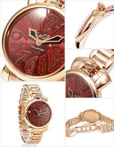 ガガミラノガガミラノ腕時計GaGaMILANO時計GaGaMILANO腕時計ガガミラノ時計マヌアーレ35mmMANUALEレディース/レッド/ブラック/ワインGG-60214[かわいいgagamilanoブレスレット6021.4ACCIAIOメタルベルトローズゴールドピンクゴールド][送料無料]