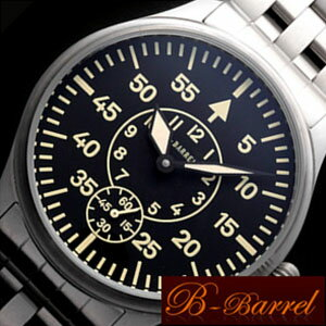 ビーバレル腕時計[B-Barrel](BBarrel腕時計ビーバレル時計)セカンドミリタリー(SecondMilitary)/メンズ時計/BB0040-SSWA[機械式手巻きメタルベルトレアモデル黒白銀ブラックホワイトシルバー][送料無料][プレゼント/ギフト/お祝い/卒業祝い]