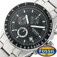 フォッシル 時計 [ FOSSIL 時計 ] フォッシル 腕時計 [ FOSSIL 腕時計] フォッシル時計 [ FOSSIL時計 ] フォッシル腕時計 [ FOSSIL腕時計 ] デッカー DECKER メンズ/レディース/ブラック CH2600[人気/新作/ビジネス/防水/クロノグラフ/カレンダー][送料無料]