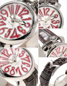 ガガミラノ腕時計GaGaMILANO時計ガガミラノ時計GaGaMILANO腕時計ガガミラノ腕時計GaGaMILANO時計マニュアーレMANUALEレディース/メンズ/ホワイトシェルGG-502010[アナログマヌアーレ/40mm/ボーイズシルバー/ホワイト/レッド灰/銀/白/赤2針][送料無料]