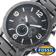 フォッシル 時計 [ FOSSIL 時計 ] フォッシル 腕時計 [ FOSSIL 腕時計] フォッシル時計 [ FOSSIL時計 ] フォッシル腕時計 [ FOSSIL腕時計 ] ネイト NATE メンズ/レディース/グレ− JR1437[人気/新作/日付機能/日付表示/メタルベルト 革ベルト 多数取り扱い][送料無料]
