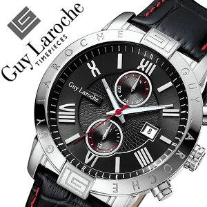 ギラロッシュ腕時計GuyLaroche時計GuyLaroche腕時計ギラロッシュ時計メンズ/ブラックG3006-01[アナログTIMEPIECESメンズウォッチシルバー黒/銀/白5針][送料無料][10倍][プレゼント/ギフト/お祝い/卒業祝い]