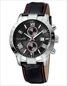ギラロッシュ腕時計GuyLaroche時計GuyLaroche腕時計ギラロッシュ時計メンズ/ブラックG3006-01[アナログTIMEPIECESメンズウォッチシルバー黒/銀/白5針][送料無料]