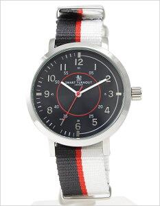 スマートターンアウト腕時計SMARTTURNOUT時計SMARTTURNOUT腕時計スマートターンアウト時計メンズ/ブラックST-COLLEGE-W[人気/新作/防水/かわいい/LONDON/ロンドン/ホワイト/シルバー/ホワイト][送料無料]