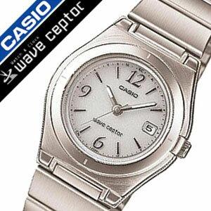 カシオ腕時計CASIO時計CASIO腕時計カシオ時計ウェーブセプターwaveceptorレディース/ホワイトLWQ-10DJ-7A1JF[タフソーラー/電波時計/防水/シルバー/シンプル][送料無料]