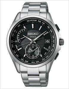 セイコー腕時計SEIKO時計SEIKO腕時計セイコー時計ドルチェ&エクセリーヌDOLCE&EXCELINEメンズ/ブラックSADA027[アナログ/ソーラー電波修正/防水/シルバー/チタンモデル/8B54][送料無料]