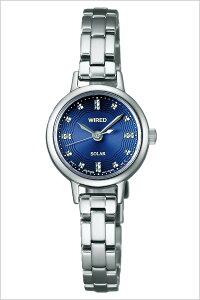 ワイアードエフ腕時計WIREDf時計WIREDf腕時計ワイアードエフ時計レディース/ブルーAGED074[アナログ/ソーラー/生活防水/SEIKO/シルバー/ブルー/ネイビー/V117][送料無料]
