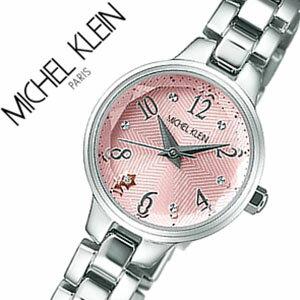 ミッシェルクラン腕時計MICHELKLEIN時計MICHELKLEIN腕時計ミッシェルクラン時計ファムFEMMEレディース/ピンクAJCK079[アナログ/防水/SEIKO/シルバー/1N01/クリスタル/ストーン/キュート][送料無料]