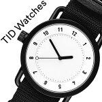 ティッドウォッチ腕時計TIDWatches時計TIDWatches腕時計ティッドウォッチ時計TIDNo.1メンズ/レディース/ホワイトTID01-WH-NBK[人気/新作/ブランド/プレゼント/ギフト/ペア/ペアウォッチ/NATOベルト/おしゃれ/防水/替え/北欧/ブラック/ナトー][送料無料]