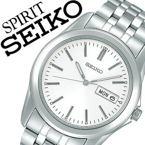 【5年保証対象】セイコー腕時計 SEIKO時計 SEIKO 腕時計 セイコー 時計 スピリット SPIRIT メンズ ホワイト SCXC007 メタル ベルト 正規品 限定 シルバー シンプル アイボリー 送料無料
