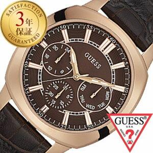 ゲス 腕時計 [GUESS時計]( GUESS 腕時計 ゲス 時計 ) プライム ( PRIME ) メンズ 腕時計 ブラウン W0660G1 [レザー ベルト 正規品 新品 ファッション ウォッチ ローズ ゴールド][バーゲン プレゼント ギフト][おしゃれ 腕時計]