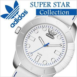 アディダス腕時計[adidas時計]アディダス時計[adidasoriginals腕時計]アディダスオリジナルス時計[adidasoriginals腕時計][アディダス時計]スーパースターSUPERSTARメンズ/レディース/ホワイトADH3036[革ベルト/スポーツウォッチ/ブランド][送料無料]