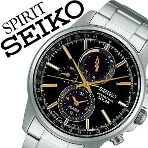 【3年保証対象】セイコー腕時計SEIKO時計SEIKO腕時計セイコー時計スピリットスマートSPIRITSMARTメンズ/ブラックSBPJ007[メタルベルト/ソーラー/クロノグラフ/正規品/防水/シルバー/ゴールド][送料無料]