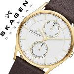スカーゲン腕時計[SKAGEN時計]スカーゲン時計[SKAGEN腕時計]スカーゲン腕時計[SKAGEN時計]ホルストHOLSTメンズ/レディース/ホワイトSKW6066[人気/新作/ブランド/防水/革ベルト/レザー/ゴールド/北欧/ブラウン/シンプル/プレゼント/ギフト][送料無料]