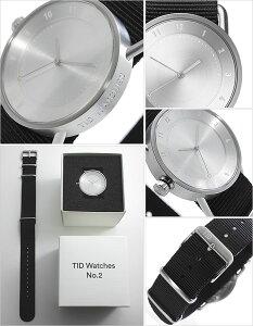 【3年保証対象】ティッドウォッチ腕時計TIDWatches時計TIDWatches腕時計ティッドウォッチ時計TIDNo.2レディース/シルバーTID02-SV36-NBK[NATOベルト/おしゃれ/正規品/替え/北欧/アナログ/ナトー/ブラック/シルバー][送料無料]